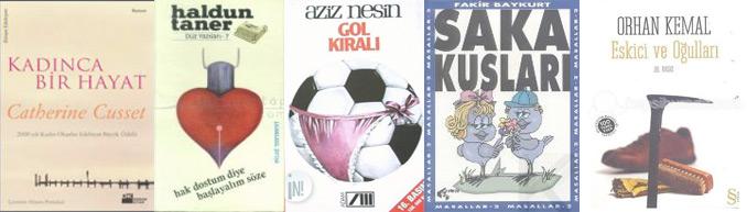 Brühl kahramanının geçtiği kitaplar